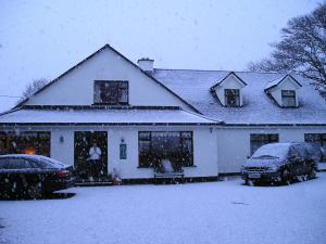Mountain View Guesthouse during the winter