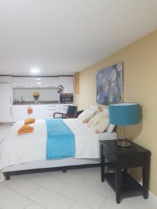 Cama ou camas em um quarto em Spectacular Furnished Studio