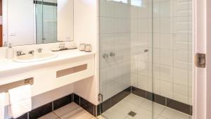 A bathroom at Hideaway on George