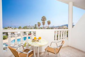 A balcony or terrace at Iatridis Studios