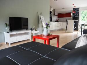 A television and/or entertainment center at Apartamento Cruceiro