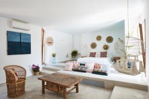 Ein Sitzbereich in der Unterkunft Can Tres Formentera