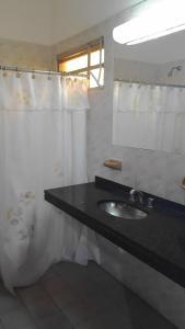 A bathroom at Hotel San Ignacio