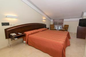 Cama o camas de una habitación en Hotel San Antonio