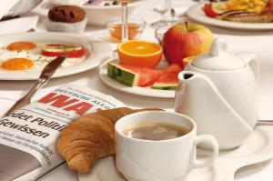 Breakfast options available to guests at Hotel Ostmeier