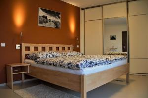Postel nebo postele na pokoji v ubytování Apartmány Hutisko 769