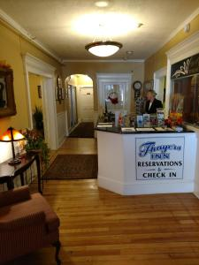 The lobby or reception area at Thayers Inn
