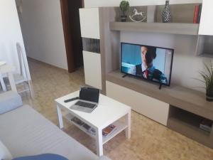 A television and/or entertainment center at Burrero Seasight