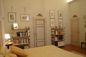 The library in the villa