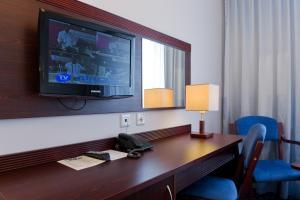 Telewizja i/lub zestaw kina domowego w obiekcie Hotel Wolin