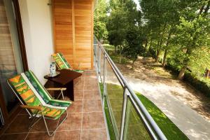 Balkon lub taras w obiekcie Hotel Wolin