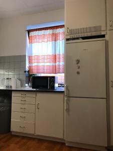Kuchyň nebo kuchyňský kout v ubytování Apartments Ålholmvej