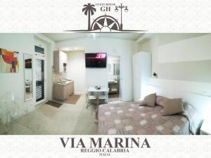 Area soggiorno di Guest House B&B Via Marina