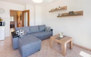 A seating area at Apartment Rabac