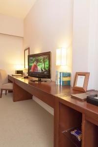 A television and/or entertainment center at Catina Saigon Hotel
