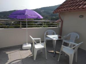 A balcony or terrace at Casas do Caminho Velho