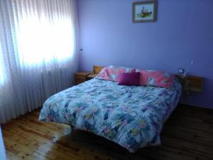 Cama o camas de una habitación en Hotel Villaneila