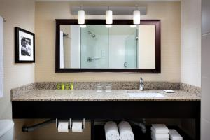 A bathroom at Delta Hotels by Marriott Sault Ste. Marie Waterfront