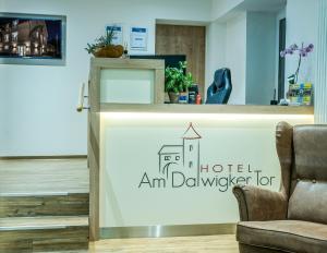 Lobby/Rezeption in der Unterkunft Hotel Am Dalwigker Tor