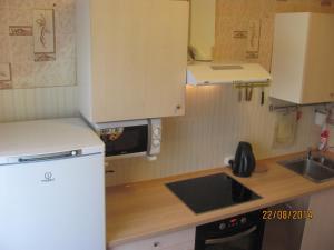A kitchen or kitchenette at Apartaments on Olimpijskaya