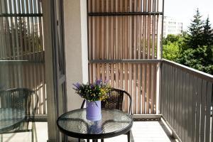 Un balcon sau o terasă la Victoria Bulevard Hotel