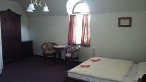 TV a/nebo společenská místnost v ubytování Vila Helena