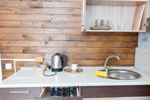 A kitchen or kitchenette at Tsentr Hostel