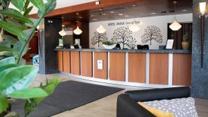 Vestibiulis arba registratūra apgyvendinimo įstaigoje Hotel Haaga Central Park