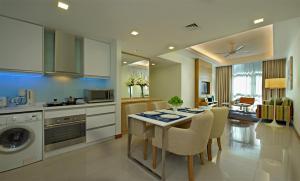 吉隆坡輝盛坊國際公寓廚房或簡易廚房