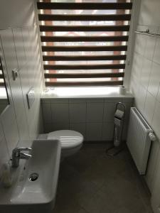 Een badkamer bij Struves Gasthof Hademarscher Hof