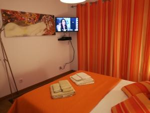 A television and/or entertainment center at Apartamento BaySide - São Martinho do Porto