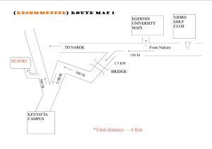 The floor plan of Mau Springs Country Resort