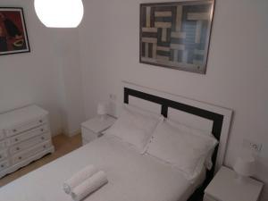 Cama o camas de una habitación en Lavadero de la Cruz
