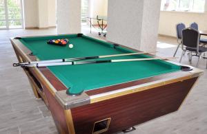 A billiards table at Erunin Hotels Group, Samotechnaya 29A