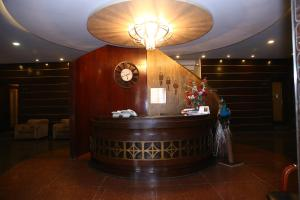 The lobby or reception area at Safari Club 1