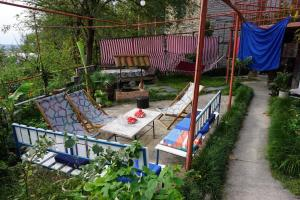Children's play area at Picnic Hostel