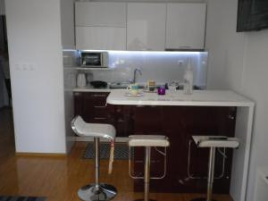 A kitchen or kitchenette at Apartman Bruna