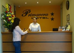 The lobby or reception area at Hotel Primavera
