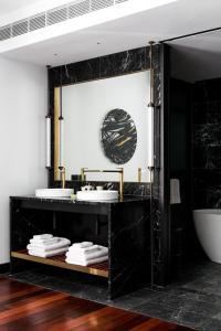 A bathroom at QT Perth