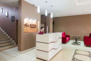 The lobby or reception area at Hotel FN Shymkent
