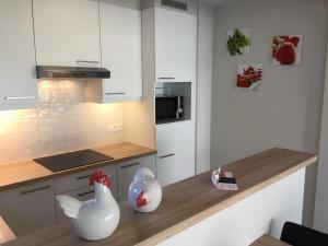 A kitchen or kitchenette at Residentie Week-end Elisalaan
