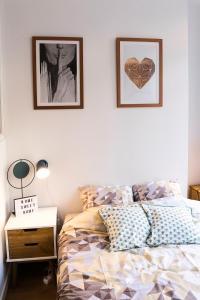Un ou plusieurs lits dans un hébergement de l'établissement Appartement Rohaut 4p - LocationAmiens