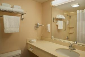 A bathroom at Hotel Carlingview Toronto Airport