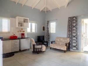 Uma área de estar em Villa Cheli