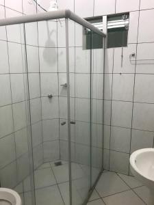 A bathroom at Hotel Master