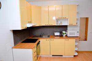 Köök või kööginurk majutusasutuses Kuressaare Tolli Apartment