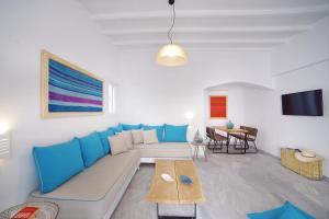 Ein Sitzbereich in der Unterkunft Mykonos Town Suites