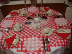 A restaurant or other place to eat at Brookville House