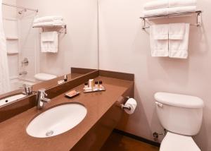 A bathroom at The Tangerine