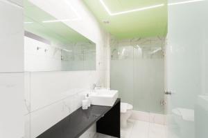 A bathroom at Greece U Around Athens Thissio Suites